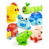 发条玩具 宝宝儿童婴幼儿玩具青蛙玩具爬行会跑小动物发条玩具一1-3岁