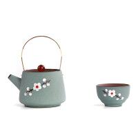 手绘紫砂杯茶壶 一壶二四杯 功夫茶具整套 户外便携 旅行包套装