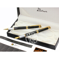 Pimio毕加索PS-903瑞典花王黑有光对笔(钢笔+宝珠笔) 礼品笔