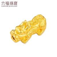 六福珠宝 足金硬金招财进宝貔貅黄金转运珠串珠手绳 定价 L01A1TBP0029