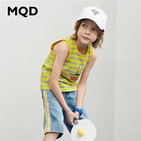 【179元3件】MQD童装男童背心2020夏装新款中大童轻薄透气无袖T恤儿童卡通百搭