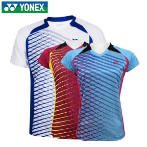 正品yonex/尤尼克斯羽毛球服男 女款短袖110226透气T恤运动服夏
