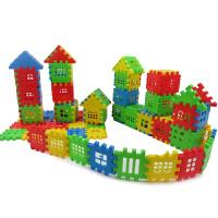 雪花片 幼儿园桌面积木 塑料儿童拼插玩具大号加厚雪花片3-6周岁 中号雪花 约200个