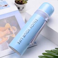 韩版便携男保温杯304不锈钢瓶女学生创意潮流水杯定制刻字印logo 天空蓝 ENJOY