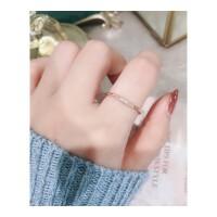 网红新款love食指钛钢戒指女不褪色日潮人学生简约小清新 4号 内径1.4cm小号关节戒指