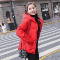 韩版棉袄女冬季新款外套加厚短款学生棉衣蓬蓬面包服 红色 M