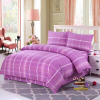 彩色 老粗布床单四件套纯棉 双人被单2米床上用品全棉简约定制 其它