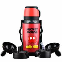 包邮!迪士尼保温壶 一壶三盖(吸管+直饮+杯盖式)吸管儿童水壶防漏 550ML儿童水杯 米奇水杯1个