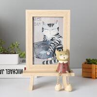 创意相框摆台个性像框木质六 可爱ins现代轻奢小摆件水培简约