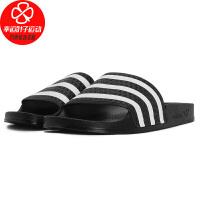 Adidas/阿迪达斯儿童拖鞋新款一字拖运动拖鞋轻便舒适沙滩鞋休闲鞋BA7130