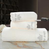 新品酒店宾馆美容会所别墅毛巾浴巾套装 定制logo洋房浴巾配套巾