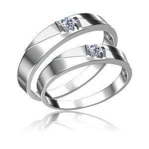 梦克拉 18K金钻石对戒 相遇 求婚戒男戒女戒 可礼品卡购买