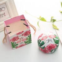 2019新款结婚礼创意婚庆马口铁盒包装盒网红同款喜糖盒子礼盒批发 +手提袋 大号10个(直径8.5cm高6cm)