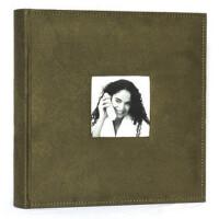 4R/6寸相册200张 麂皮绒布面相册/相簿 带记事 绿色