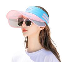 空顶遮阳帽帽子女夏季防晒大沿沙滩骑车太阳帽大帽檐防紫外线