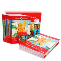 点读版 小瓢虫分级阅读第二阶 Ladybird Readers Level 2 盒装15册书+15册练习册 英文原版 赠