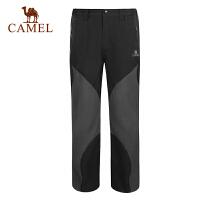 CAMEL骆驼户外秋季新款男款户外透气休闲冲锋裤3F93001