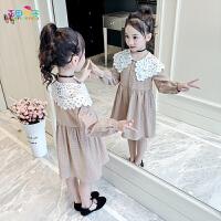 2019新款洋气童装女孩公主裙儿童春秋裙子女童春装连衣裙