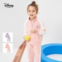 【春新品4折�A估�r:133.8元】迪士尼女童半高�I�l衣�L�套�b2021春�b新款童�b�和������杉�套