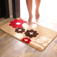 长条地垫地毯卡通门垫进门浴室防滑垫卧室卫浴厕所卫生间脚垫 富贵花开 40x60cm