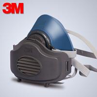 3M HF-52防�m口罩硅�z面具工�I�诒7�m打磨活性炭防��味�焊面罩