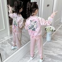 2019春秋季新款儿童洋气运动套装女童时髦韩版秋装