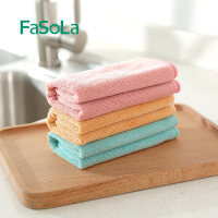 Fasola厨房抹布吸水不易掉毛沾油加厚厨房超细纤维洗碗巾洗碗 3个装