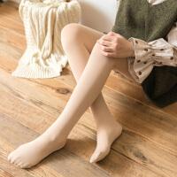 打底裤 女士加绒加厚肤色踩脚保暖拉毛连袜冬季新款韩版女式时尚休闲舒适袜子