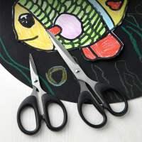 文具剪刀办公家用厨房缝纫纱剪剪纸刀大中小号不锈钢手工美工刀子
