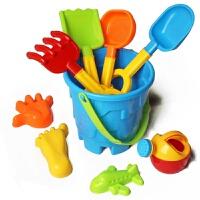 儿童戏水沙滩玩具海边挖沙铲子水桶城堡沙模沙漏沙滩玩具套装