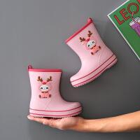 宝宝雨靴水鞋儿童雨鞋新款男童1-2岁3小童婴幼儿防水防滑小孩女童