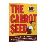 英文原版绘本 The Carrot Seed 胡萝卜种子 平装 Crockett Johnson 吴敏兰书单 常青藤爸爸英语启蒙