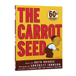 英文原版绘本 The Carrot Seed 胡萝卜种子 平装 Crockett Johnson 吴敏兰书单 常青藤爸