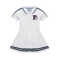 韩版童装女童裙子夏装公主连衣裙2019新款夏季学院风儿童洋气潮衣