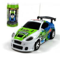 遥控充电超小迷你型易拉罐可乐跑车赛车男孩玩具汽车 绿色 49hz