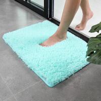 出口欧美纯白色卫生间淋浴房浴室门口地毯门垫脚垫家用防滑地垫长条 长绒吸水海绵垫 40x60cm