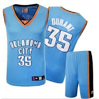 男士篮球服套装 雷霆队35号杜兰特队服 球衣
