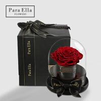 巨型玫瑰永生花礼盒装玻璃罩保鲜花送女友老婆生日礼物情人节