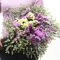 勿忘我干花花束混搭家庭饰品家居摆设办公装饰鲜花拍摄道具