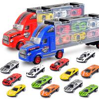 货柜车模型男孩玩具儿童玩具滑行仿真货柜合金小汽车模型套装