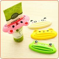 创意可爱卡通多用途挤牙膏器青蛙款牙膏挤出器挤牙膏方便快捷 牙膏挤压器颜色随机