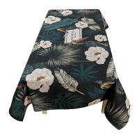 田园餐桌布艺台布圆桌布加厚长方形茶几布客厅餐厅书桌多用盖巾布定制