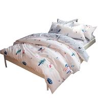 韩式纯棉清新卡通全棉床单四件套单人被套床上用品三件套床笠定制