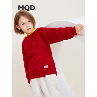 MQD童装男童毛衣2019秋季新款中大童套头上衣拼接针织儿童毛衫针织衫潮