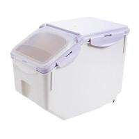 塑料装米桶厨房防虫储米箱10KG密封防潮米箱米面大米收纳箱面粉桶