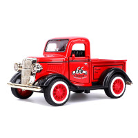 儿童Q版合金车模复古老爷车带声光音乐多色可选车模玩具
