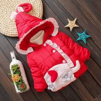 女宝宝外套女童冬装加绒棉衣小童加厚保暖棉袄婴儿外套秋冬1-3岁女宝宝ZQ75蓝