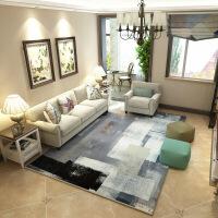 现代简约艺术客厅地毯茶几卧室地垫北欧长方形可水洗可定制