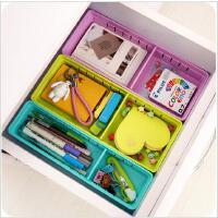 家居生活 日式塑料抽屉收纳盒 办公杂物分类整理盒储物盒