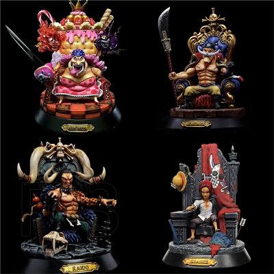 海贼王手办四皇坐姿GK雕像大妈雕像白胡子百兽凯多红发香克斯模型